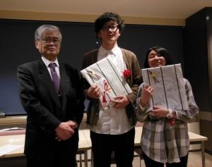 グランプリを受賞した関川航平さんと栗原千亜紀さん