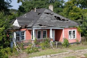 放棄され、荒れ果てていたオリジナルの家