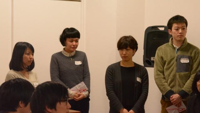 準グランプリ受賞者(左から天野さん、松田さん、ピメリコさん、久未可 L蔵さん)。