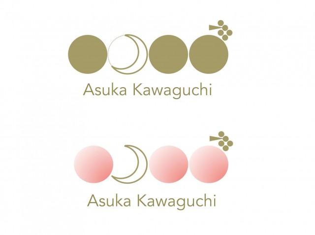 持ち帰ったデザインをパソコンで加工。まるでプロが作ったような仕上がりに。名前の明日香の漢字「日」「月」「禾」から発想したロゴ。